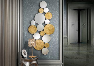 Modernios klasikos interjero detalės veidrodis Cirze