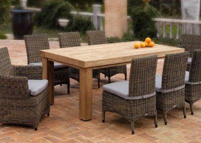 Klasikiniai lauko baldai krėsliukas stalas Riviera 3