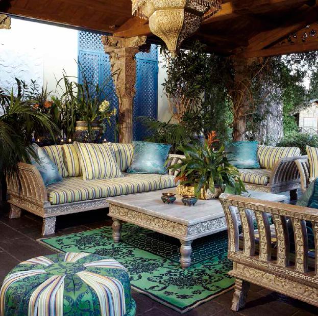 Klasikiniai lauko baldai sofa Bali