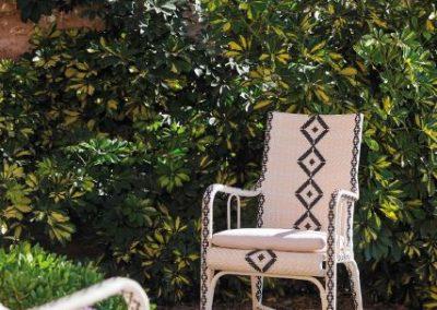Klasikiniai pinti lauko baldai kėdė Charleston 7