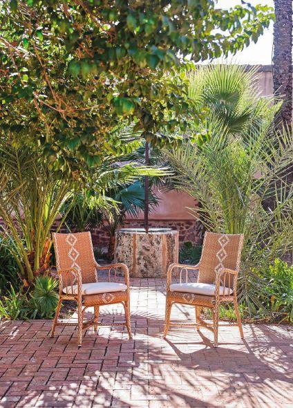 Klasikiniai pinti lauko baldai kėdė Charleston 8