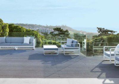 Modernūs lauko baldai Miami 1
