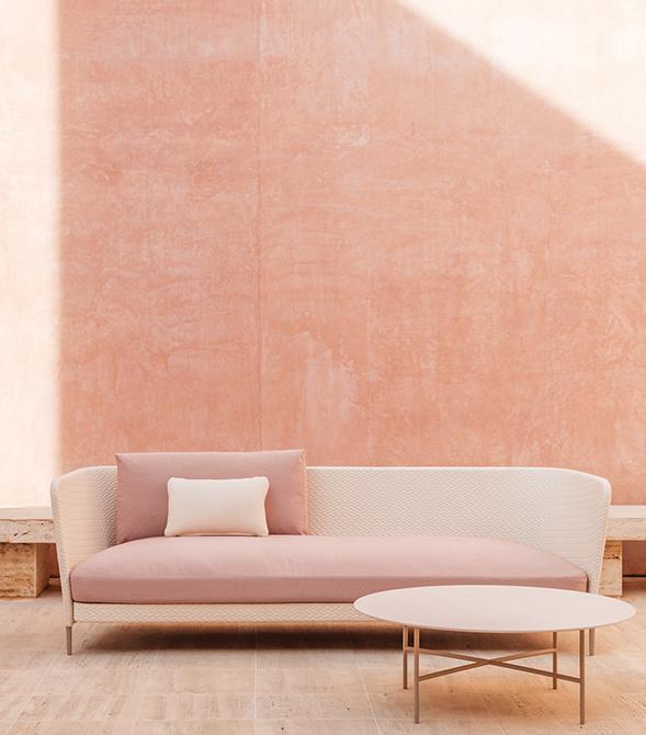 Modernūs lauko baldai sofa Kabu
