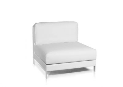 Modernūs lauko baldai sofos modulis Slim_modulo central