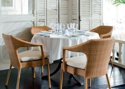 Modernios klasikos lauko baldai kėdė Caddie 1