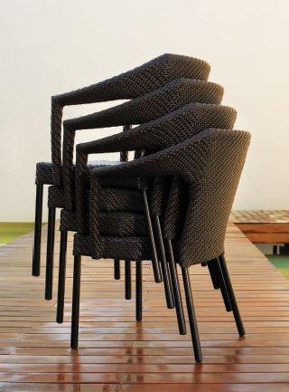 Modernios klasikos lauko baldai kėdė Caddie 2