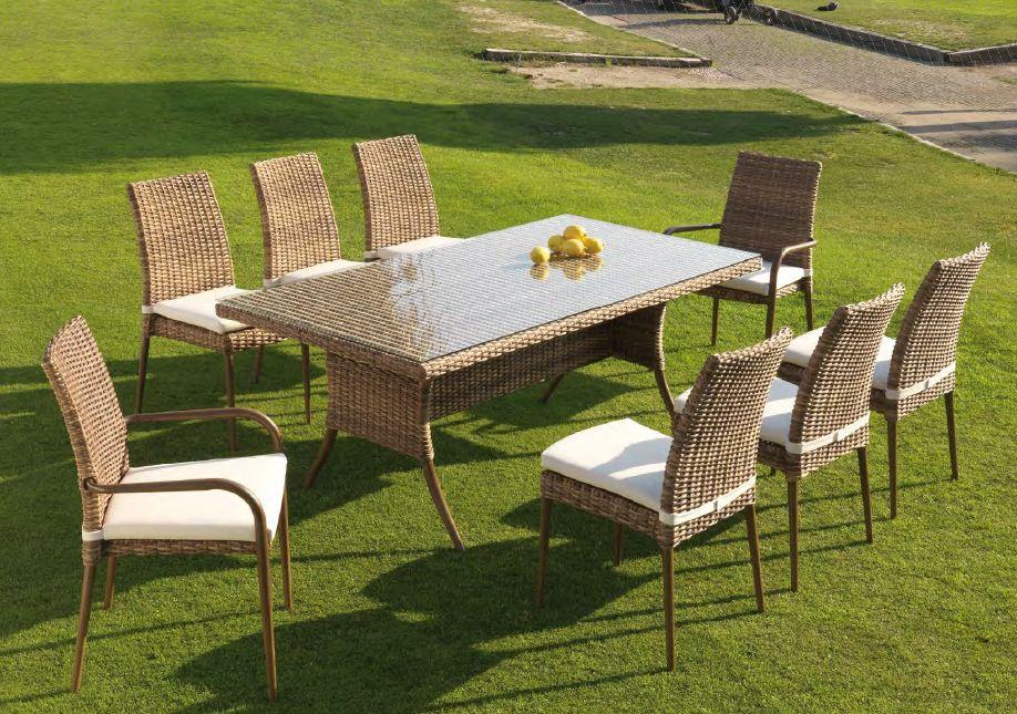 Modernios klasikos lauko baldai kėdės stalas Agadir 5