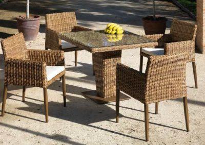 Modernios klasikos lauko baldai kėdės stalas Agadir 6