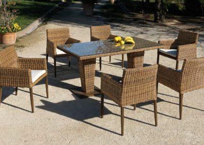 Modernios klasikos lauko baldai krėsliukai stalas Agadir 3