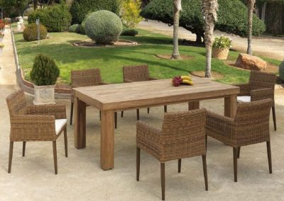 Modernios klasikos lauko baldai krėsliukai stalas Agadir 4