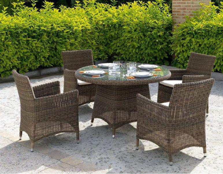 Modernios klasikos lauko baldai krėsliukai stalas Ibiza 5