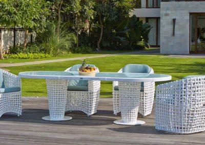 Modernios klasikos lauko baldai krėsliukas stalas Dynasty 3
