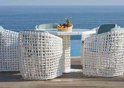 Modernios klasikos lauko baldai krėsliukas stalas Dynasty 5