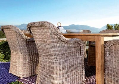 Modernios klasikos lauko baldai krėsliukas stalas Pasha 1