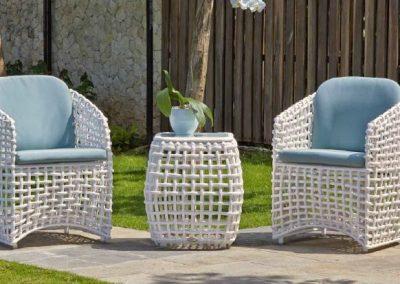 Modernios klasikos lauko baldai krėsliukas staliukas Dynasty 6