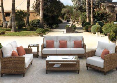 Modernios klasikos lauko baldai sofa Agadir 1