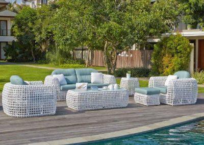 Modernios klasikos lauko baldai sofa Dynasty 1