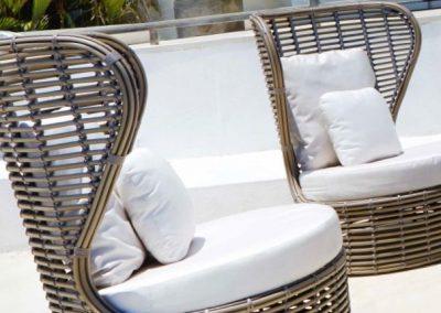 Modernios klasikos lauko baldai sofa krėsliukas Drone 2