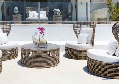 Modernios klasikos lauko baldai sofa krėsliukas Drone