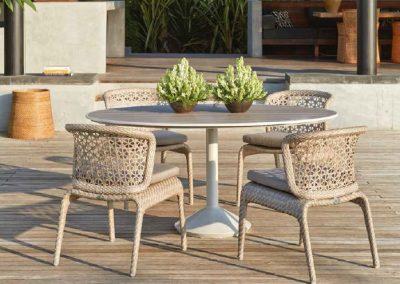Modernios klasikos lauko baldai stalas krėsliukai Journey 3