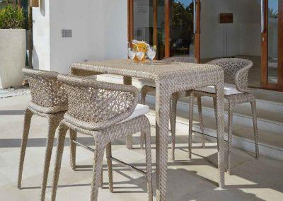 Modernios klasikos lauko baldai stalas krėsliukai Journey 6