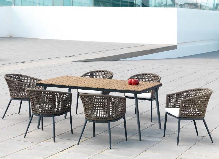 Modernios klasikos lauko baldai stalas krėsliukai Roma 2