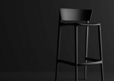 Modernūs lauko baldai baro kėdė Africa 9