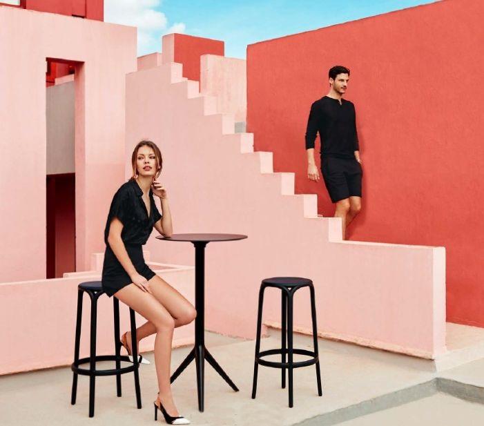 Modernūs lauko baldai baro kėdė Brooklyn