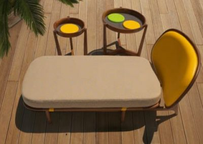 Modernūs lauko baldai gultas Mod.1292.4