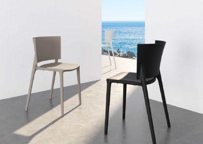 Modernūs lauko baldai kėdė Africa
