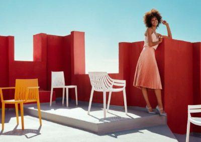 Modernūs lauko baldai kėdė Spritz