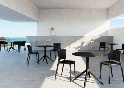 Modernūs lauko baldai kėdės Africa 8