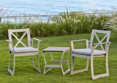 Modernūs lauko baldai krėsliukai Rhone 3