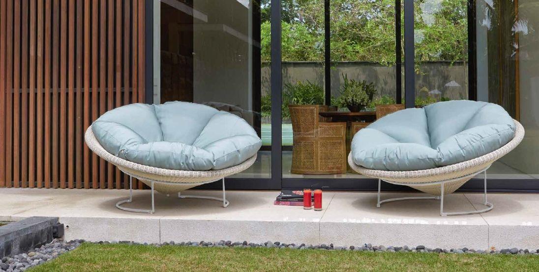 Modernūs lauko baldai krėsliukas Luna