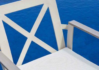 Modernūs lauko baldai krėsliukas Rhone 6