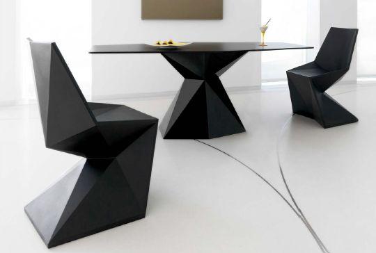 Modernūs lauko baldai krėsliukas stalas Vertex