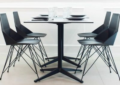 Modernūs lauko baldai krėsliukas staliukas Faz 39