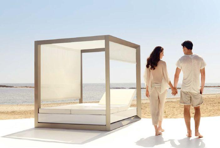 Modernūs lauko baldai lauko lova Vela 8