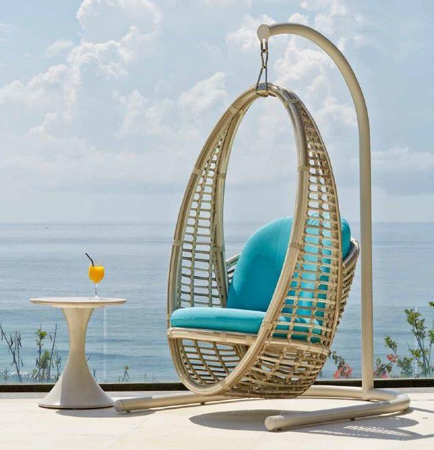 Modernūs lauko baldai pakabinamas krėslas Heri