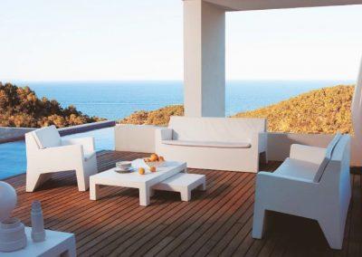 Modernūs lauko baldai sofa Jut 1