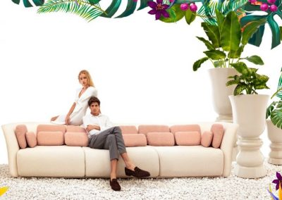 Modernūs lauko baldai sofa Suave