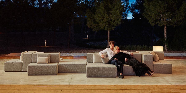 Modernūs lauko baldai sofa Tablet