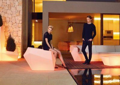 Modernūs lauko baldai sofa vazonai Faz