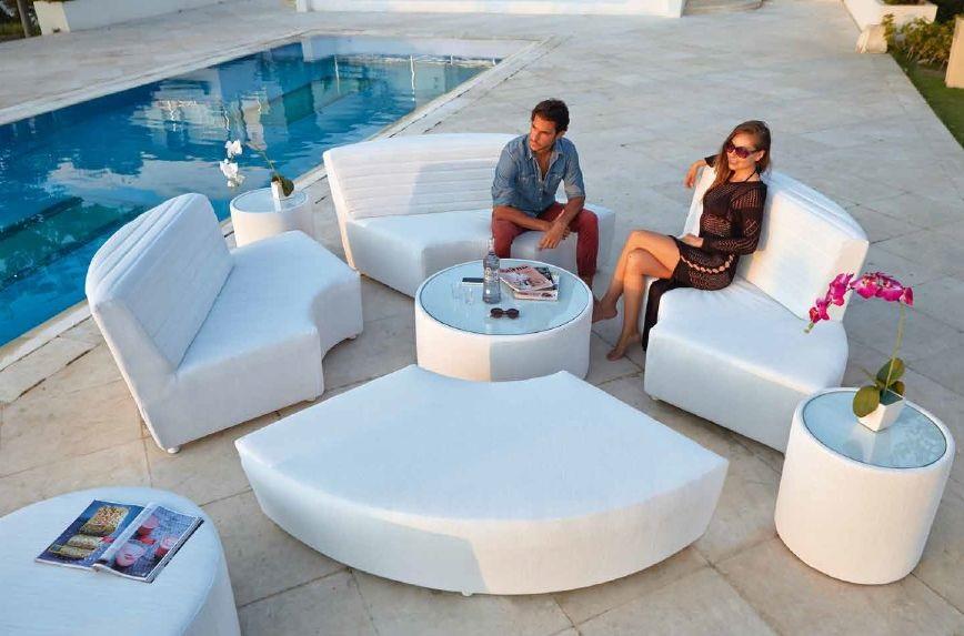 Modernūs lauko baldai sofos modulis gultas Axis 6