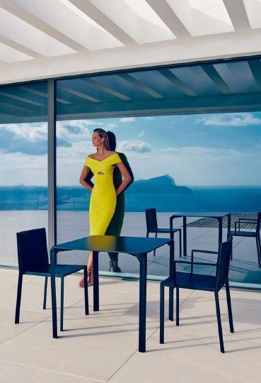 Modernūs lauko baldai stalas kėdės Quartz 1