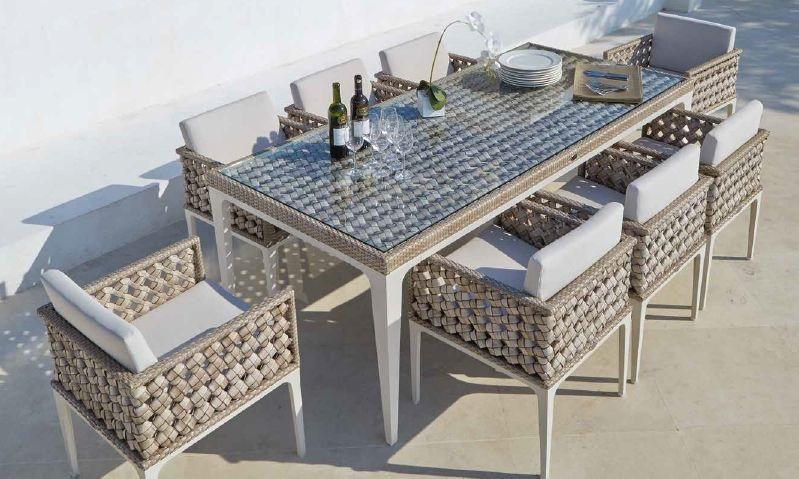 Modernūs lauko baldai valgomjo stalas krėsliukai Heart 2
