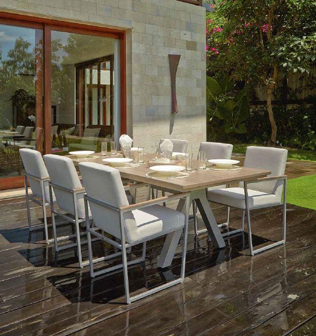 Modernūs lauko baldai valgomojo stalas kėdės Maldives 5