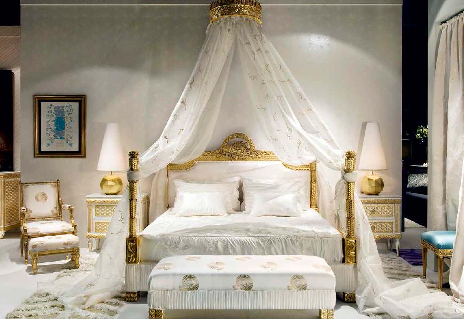 Klasikiniai miegamojo baldai Sissi