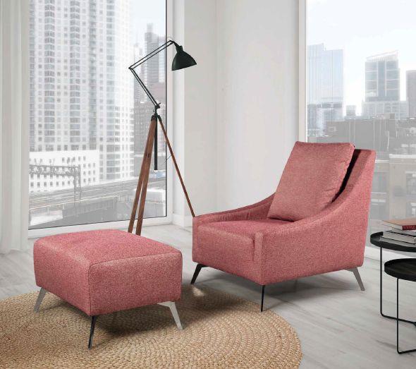 Modernūs minkšti svetainės baldai krėsliukas Bianca