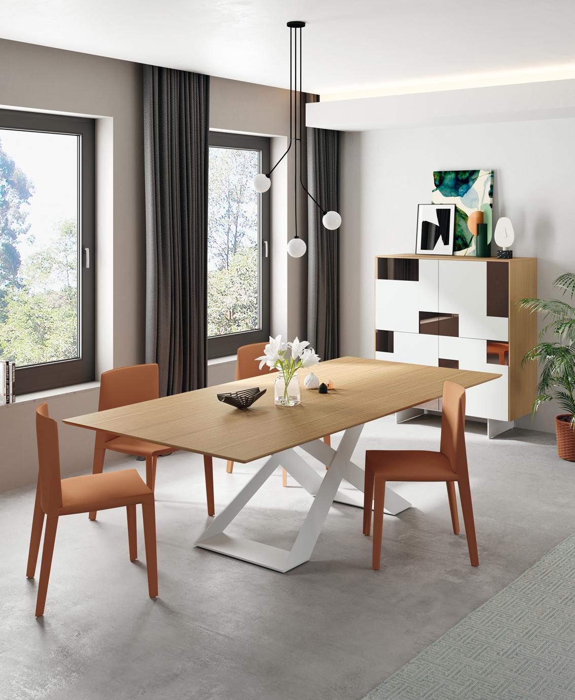 Modernūs valgomojo baldai stalas Alberta komoda Spark